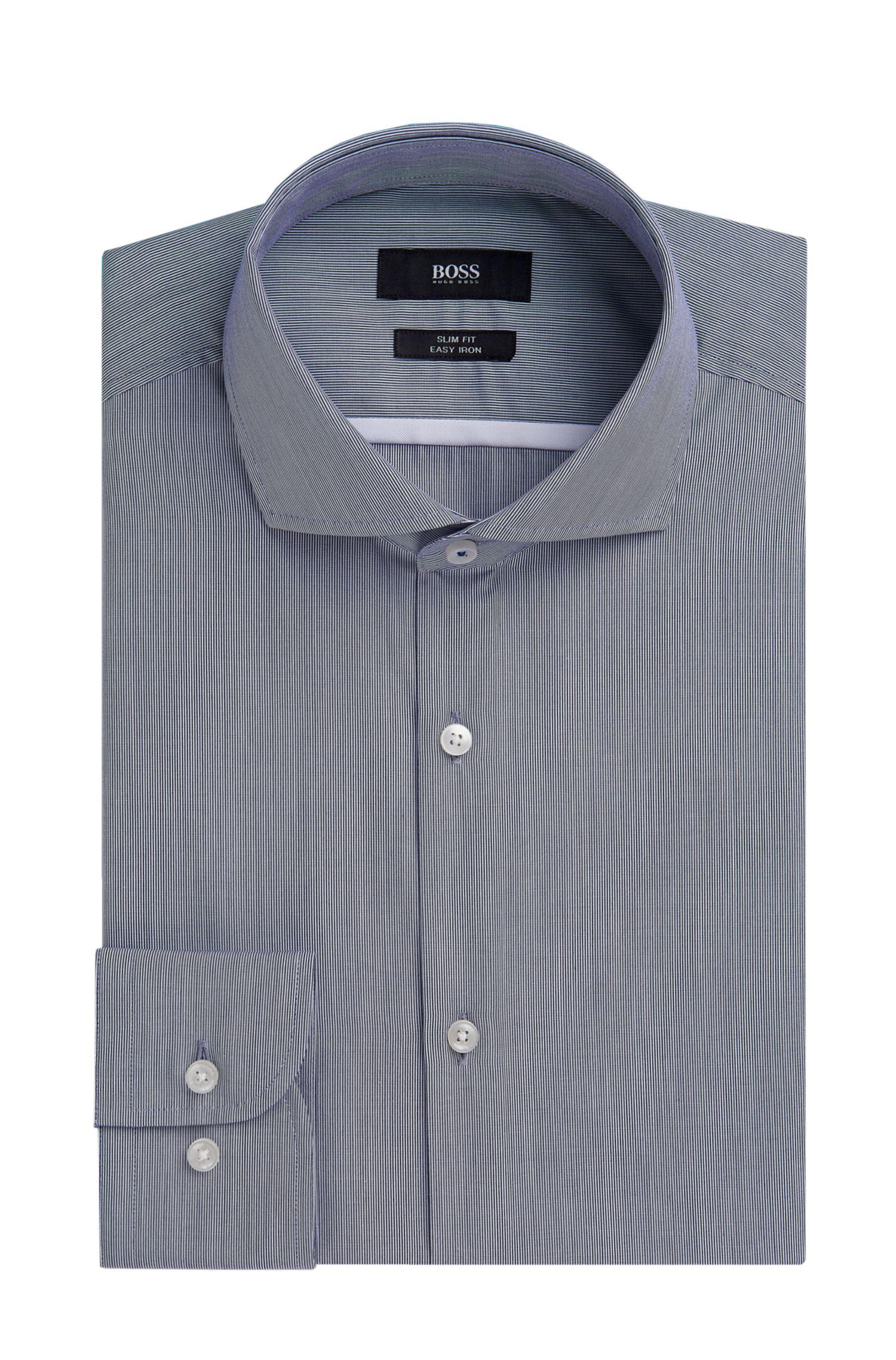 Striped Easy Iron Italian Poplin Dress Shirt, Slim Fit   Jerrin
