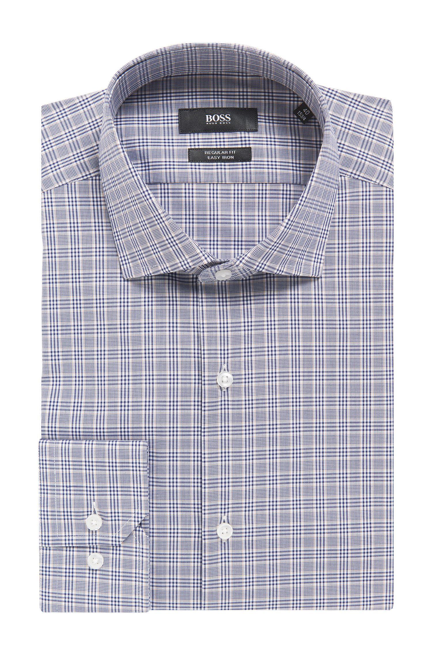 Plaid Fresh Active Traveler Dress Shirt, Regular Fit | Gordon