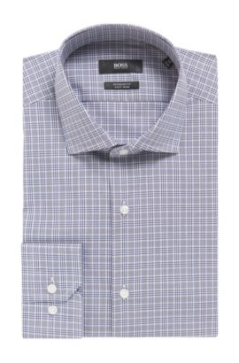 Plaid Fresh Active Traveler Dress Shirt, Regular Fit | Gordon, Dark Blue