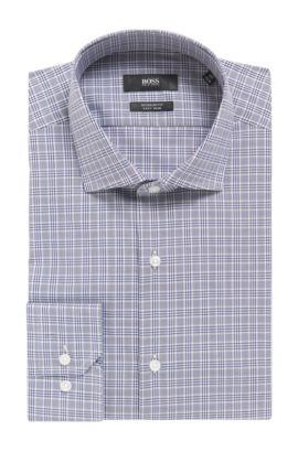 Plaid Fresh Active Traveler Dress Shirt, Regular Fit | Gordon, Dark Blue