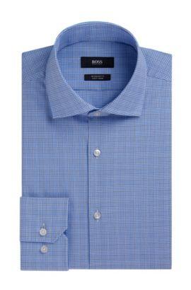 Plaid Fresh Active Traveler Dress Shirt, Regular Fit | Gordon, Light Blue