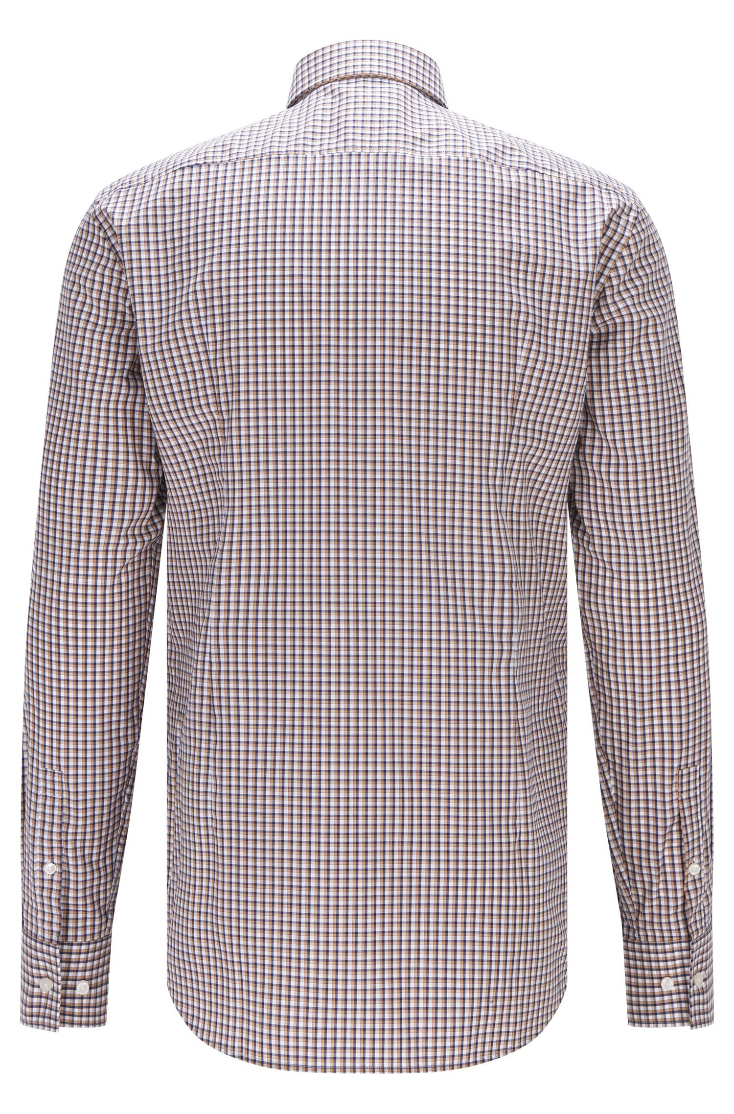 Checked Easy Iron Cotton Dress Shirt, Slim Fit | Jason