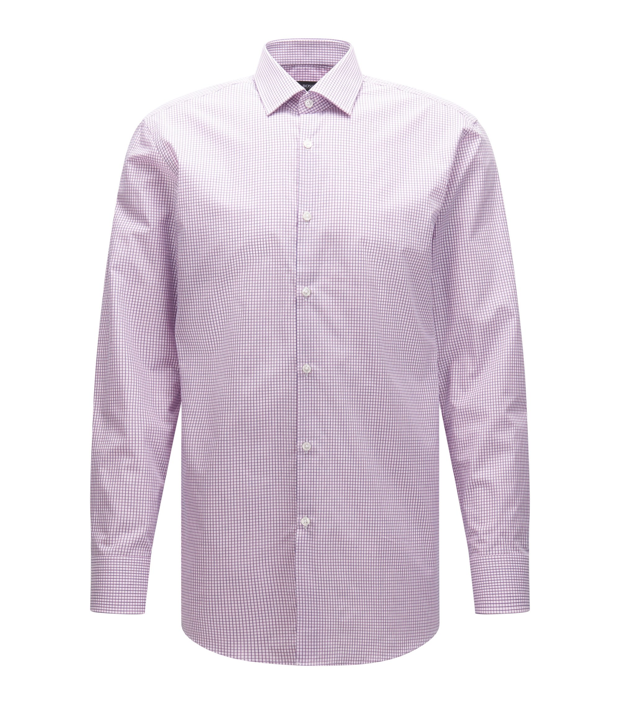 Checked Cotton Dress Shirt, Sharp Fit | Marley US, light pink