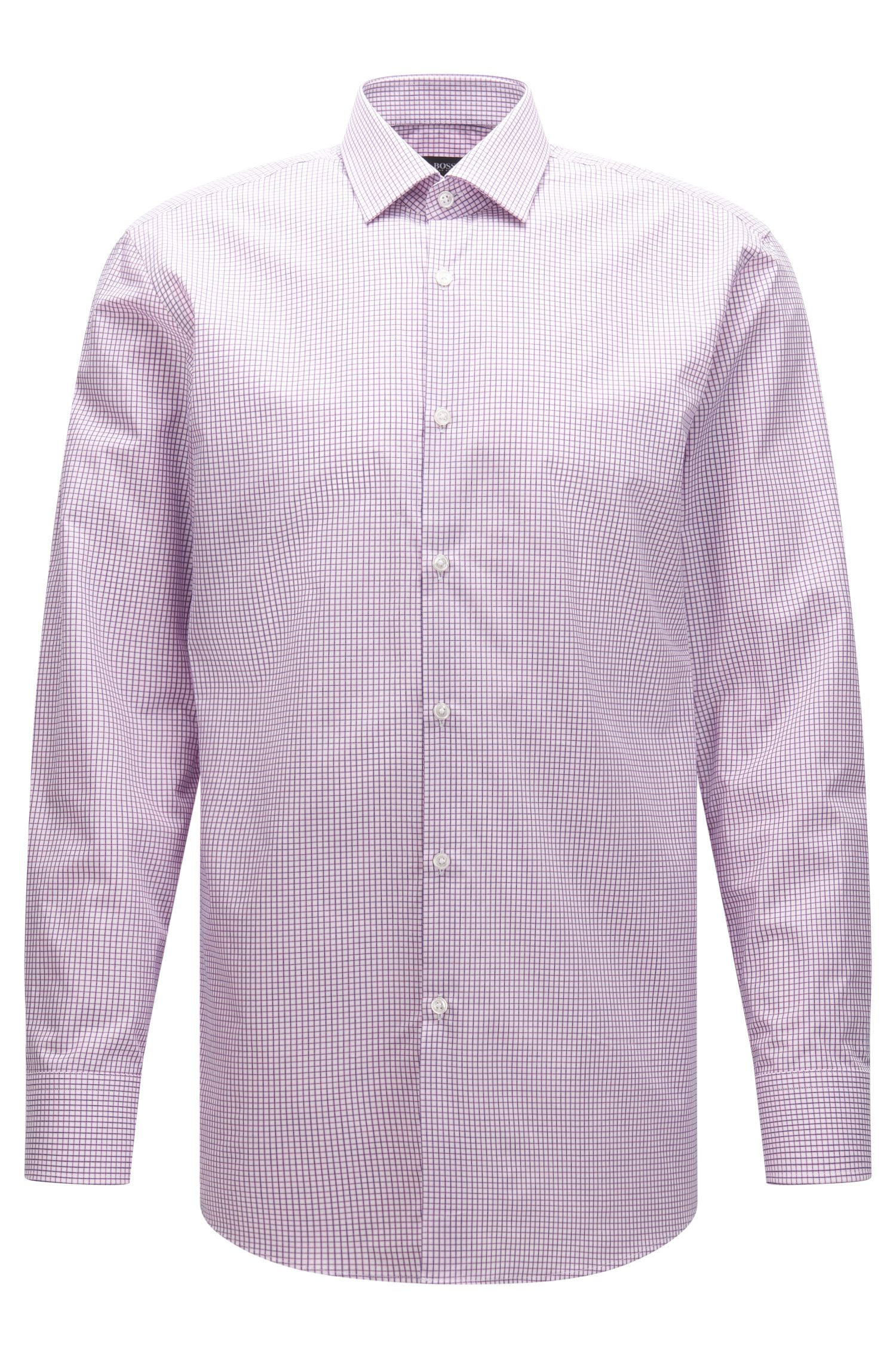 Checked Cotton Dress Shirt, Sharp Fit | Marley US