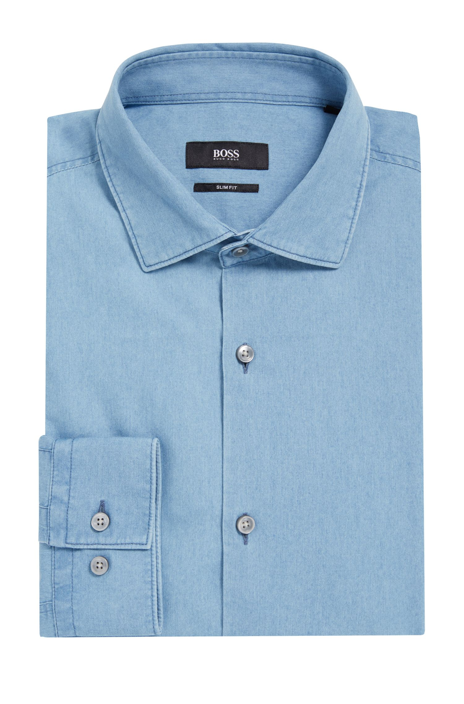 'Ismo' | Slim Fit, Cotton Dress Shirt
