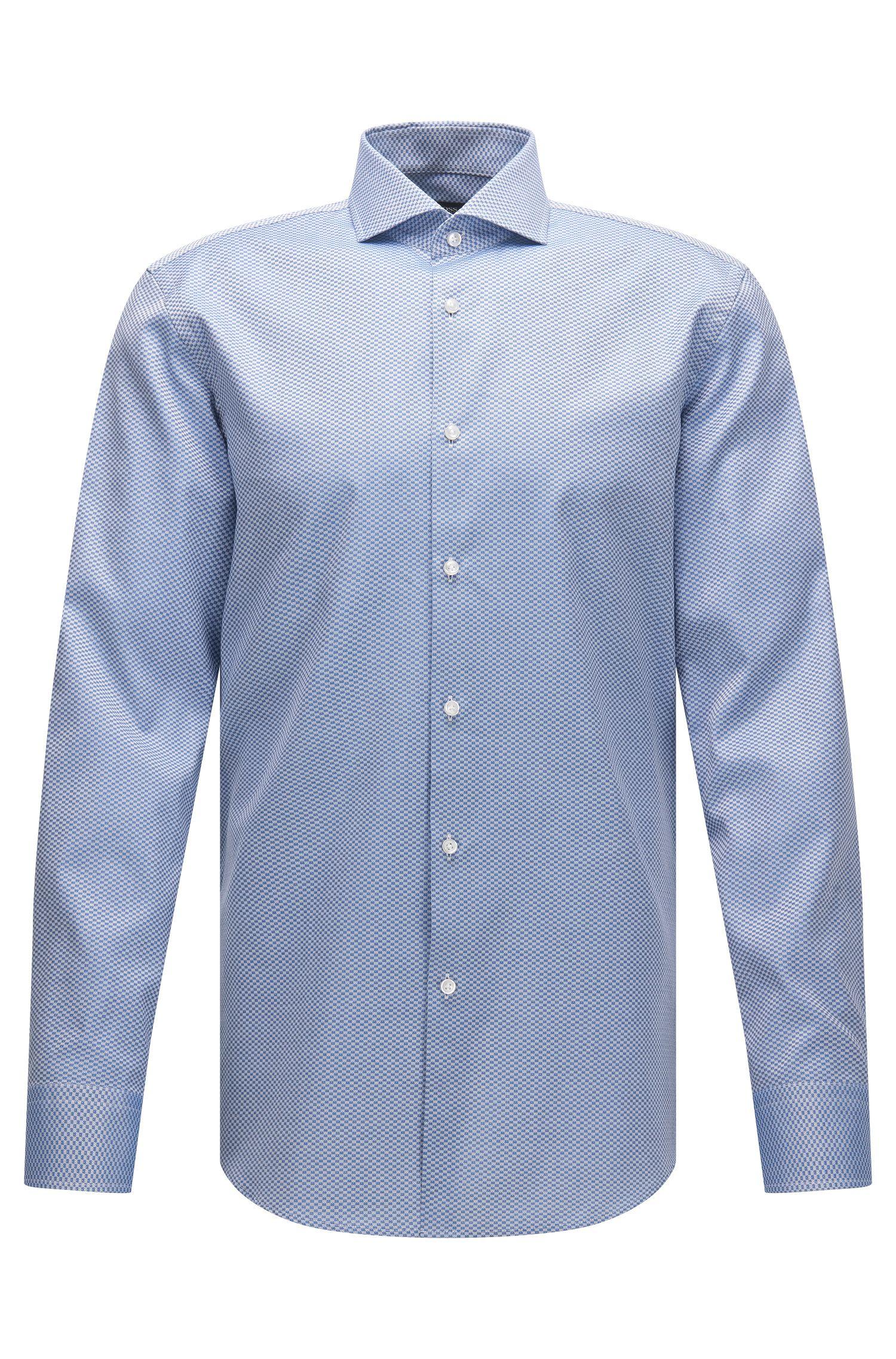 Checked Italian Cotton Dress Shirt, Slim Fit | Jason