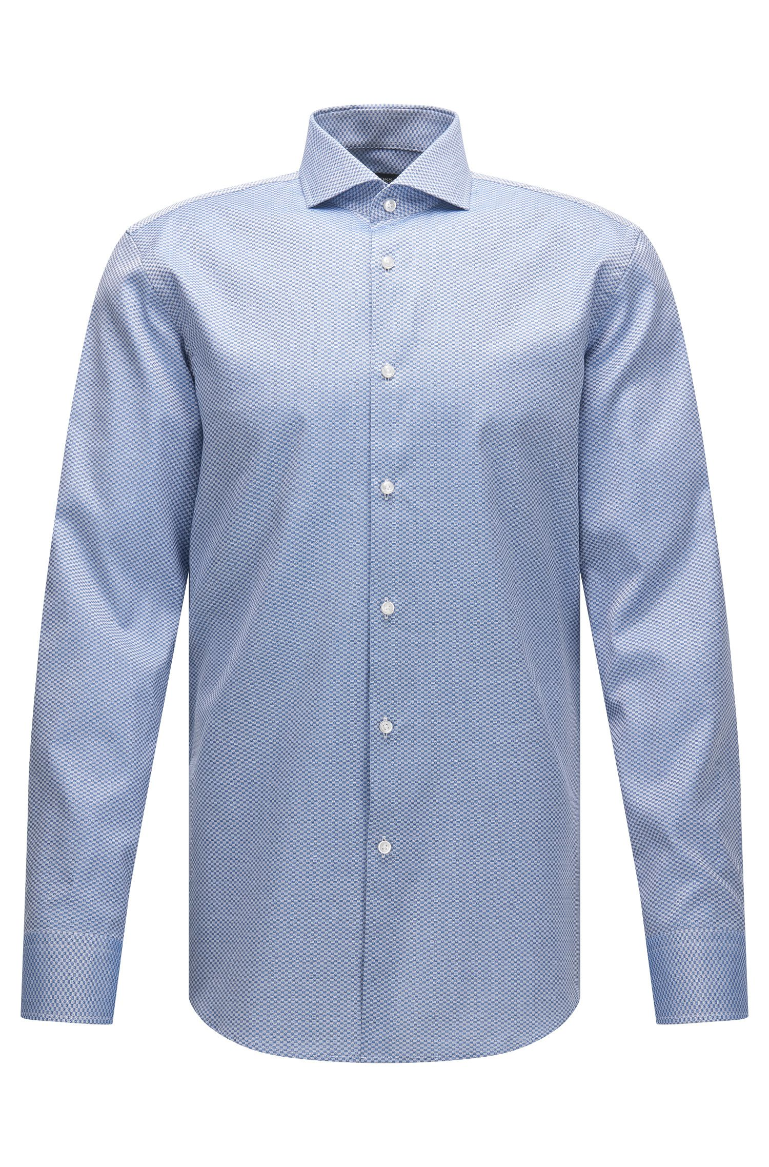 Checked Italian Cotton Dress Shirt, Slim Fit | Jason