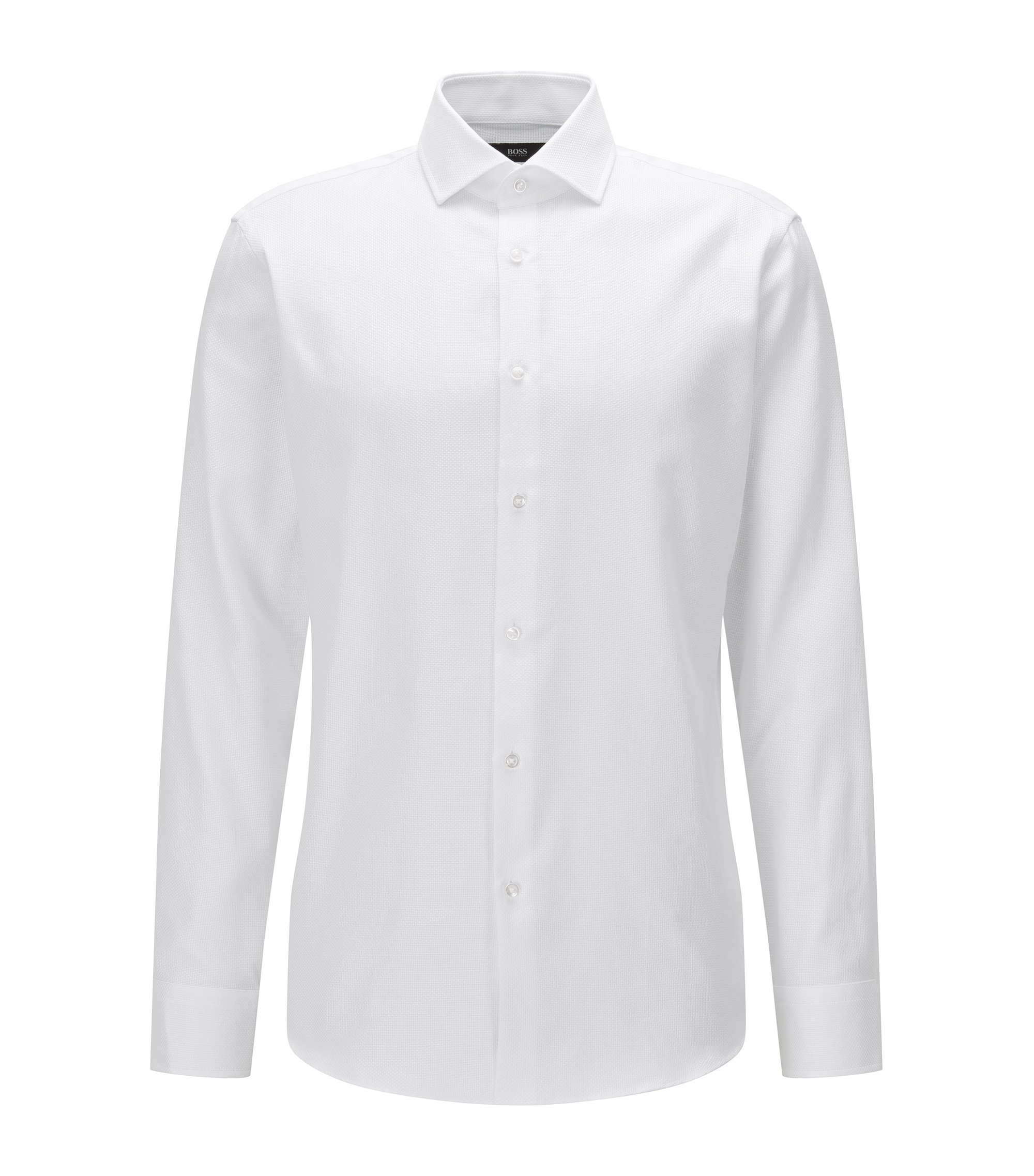 Cotton Dress Shirt, Regular Fit | Gordon, White