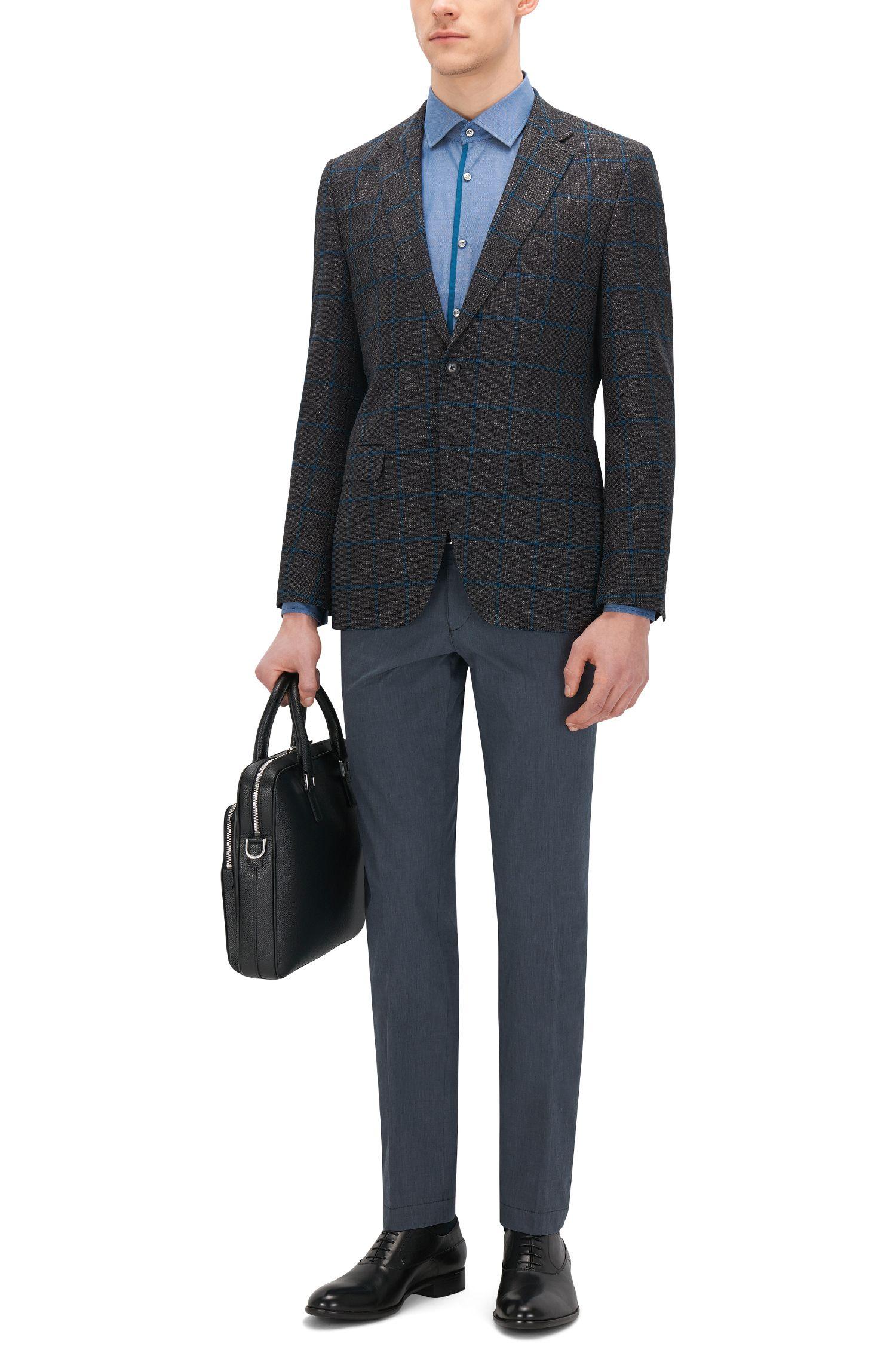 Royal Oxford Cotton Dress Shirt, Slim Fit | Jeldrik