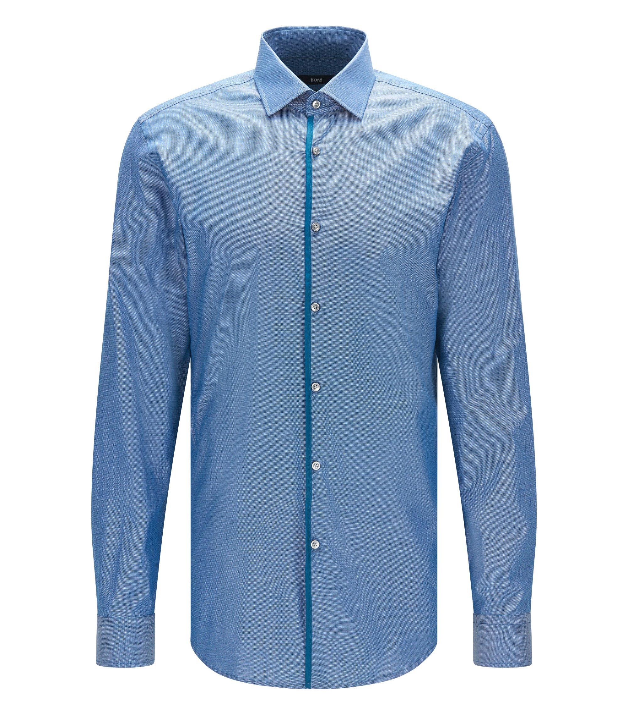 Royal Oxford Cotton Dress Shirt, Slim Fit | Jeldrik, Turquoise