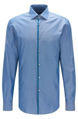 Royal Oxford Cotton Dress Shirt, Slim Fit | Jeldrik, Turquoise