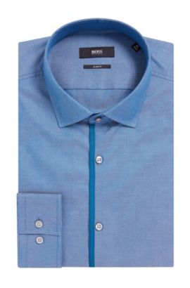 'Jeldrik' | Slim Fit, Royal Oxford Cotton Dress Shirt, Turquoise