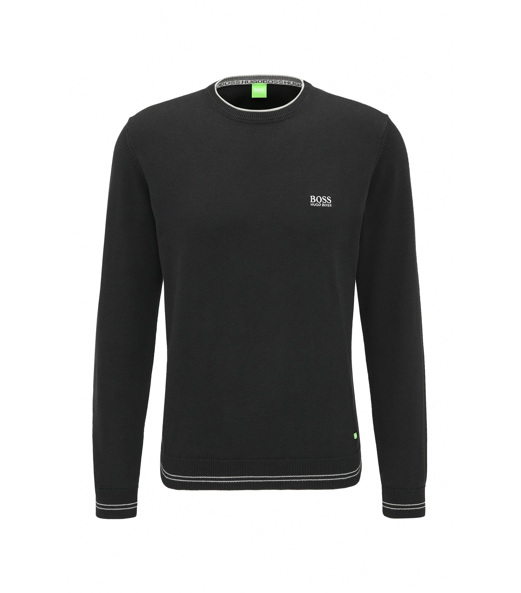 Cotton Blend Sweater | Rime, Black