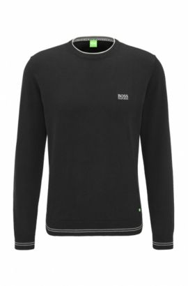 'Rime' | Regular Fit, Cotton Blend Sweater, Black