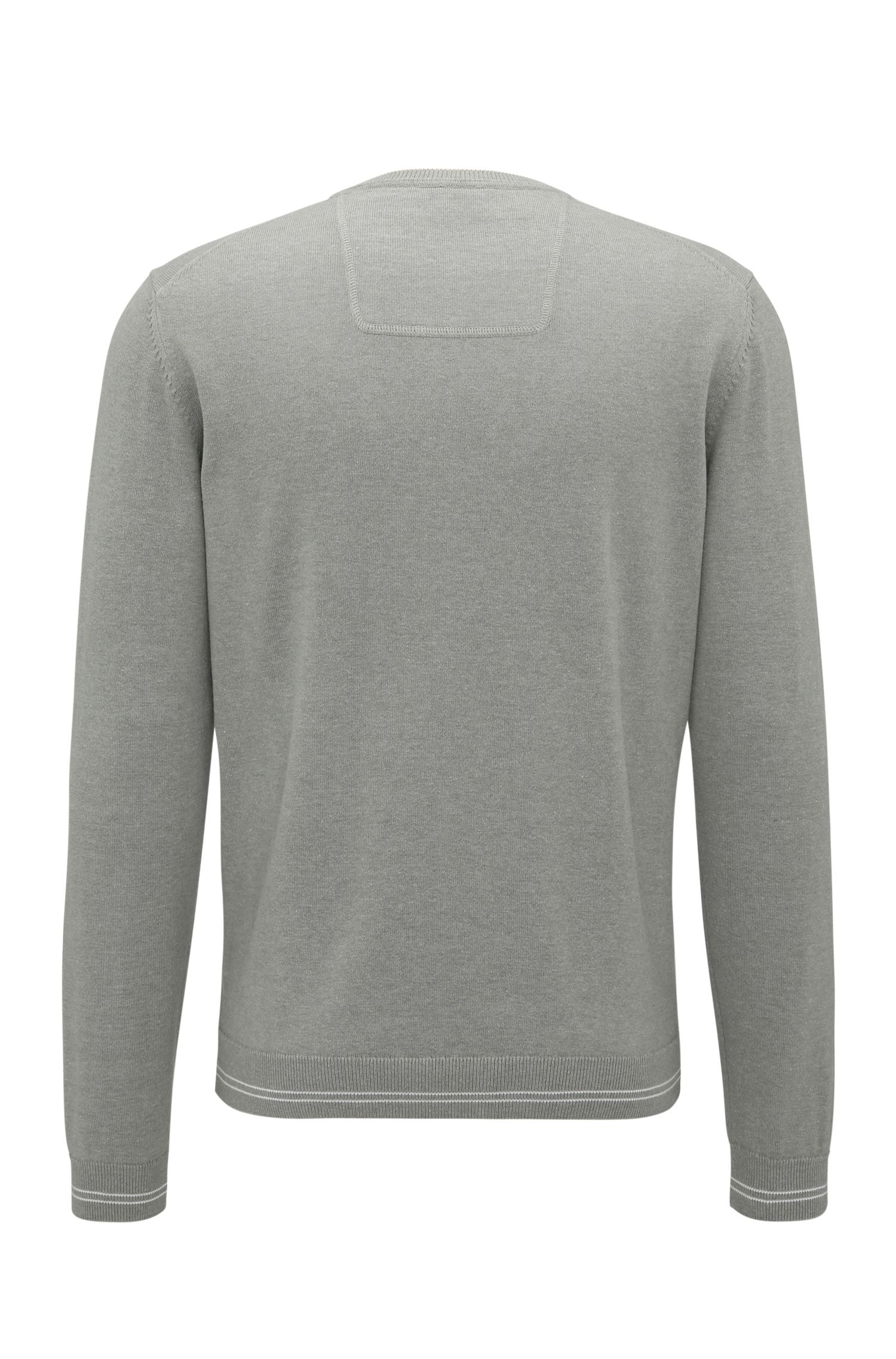 Cotton Blend Sweater | Rime, Light Grey