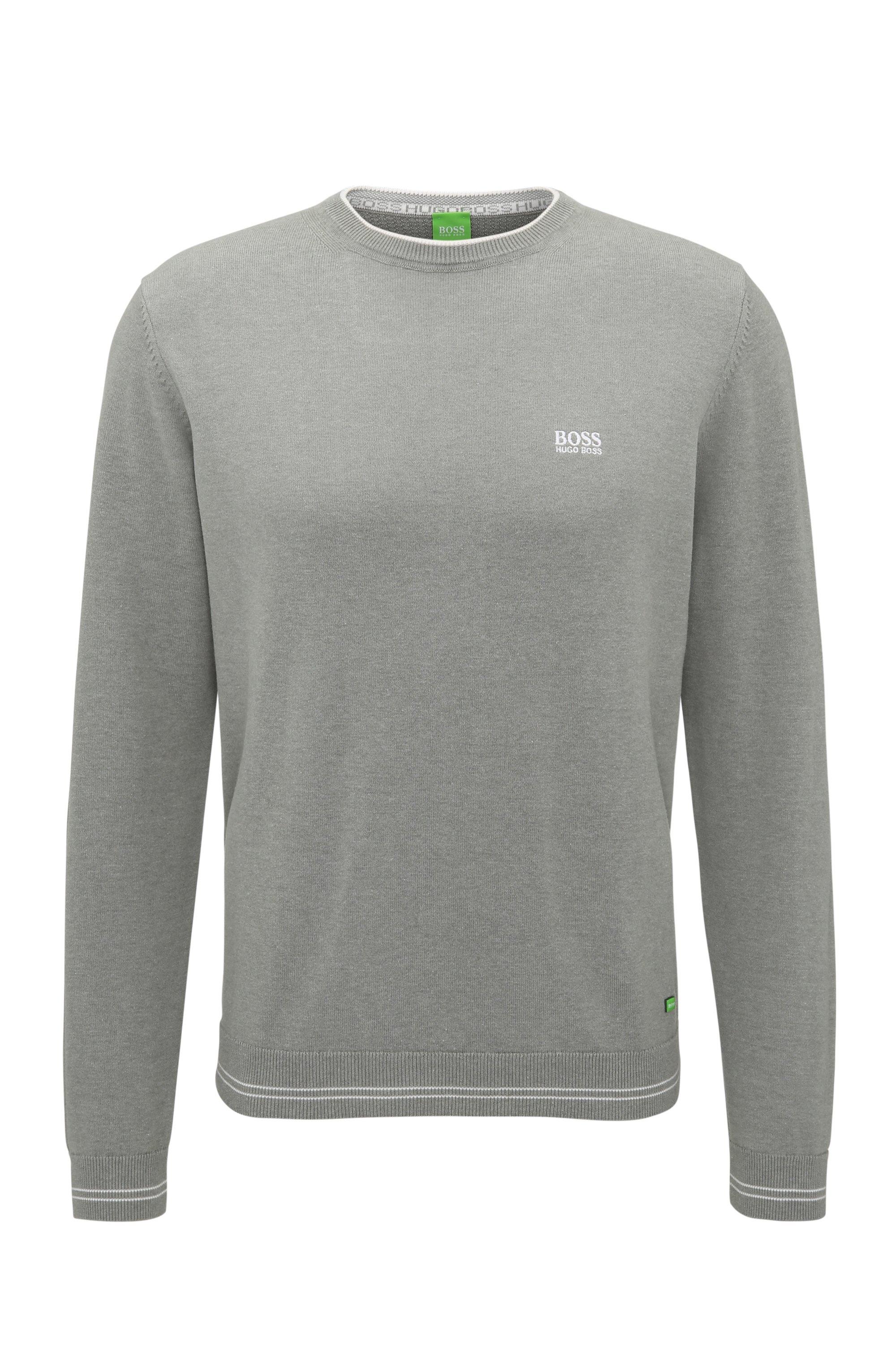Cotton Blend Sweater | Rime, Light Grey