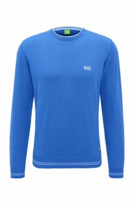 Cotton Blend Sweater | Rime, Open Blue
