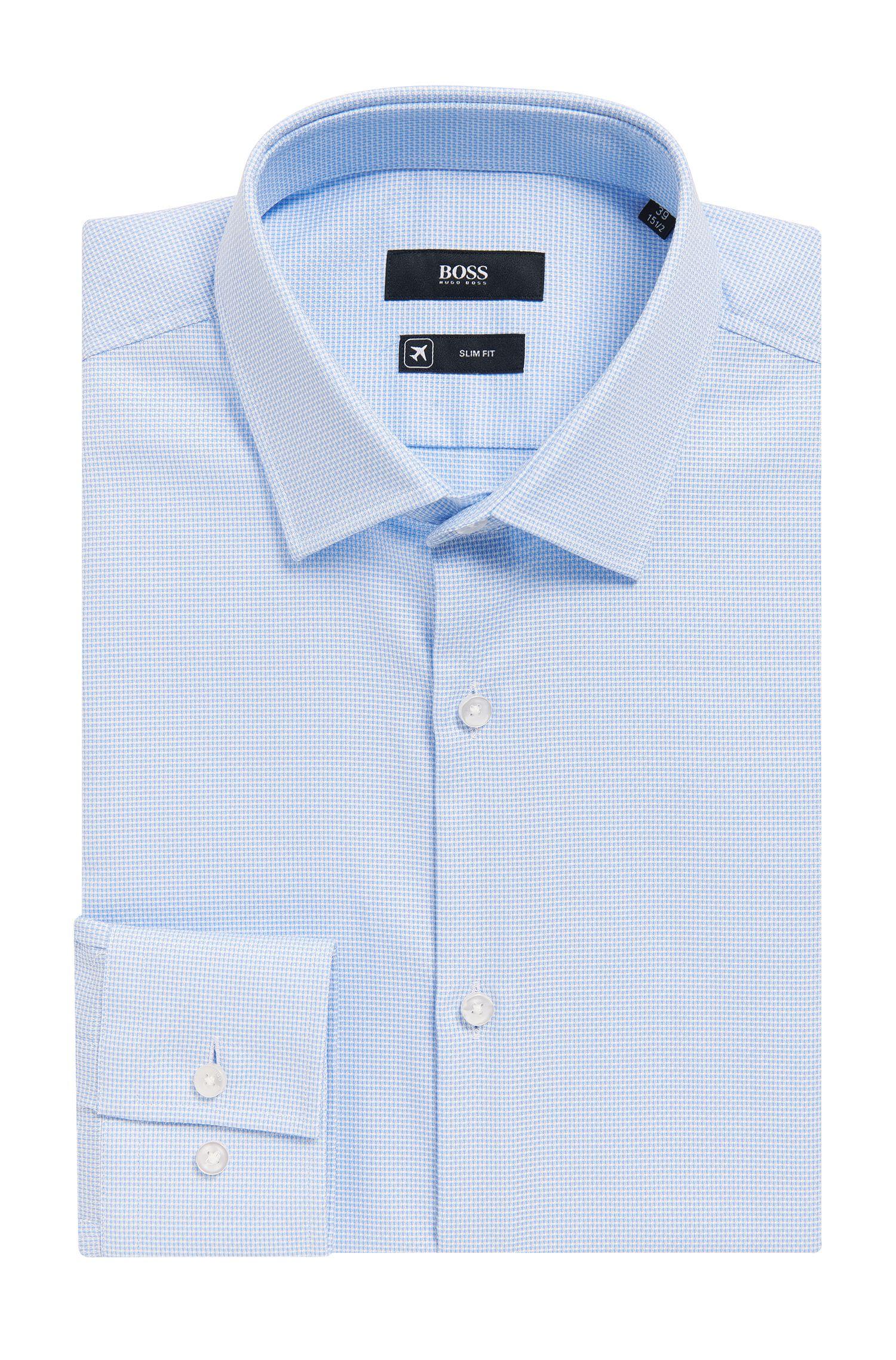 Nailhead Cotton Traveler Dress Shirt, Slim Fit | Jenno