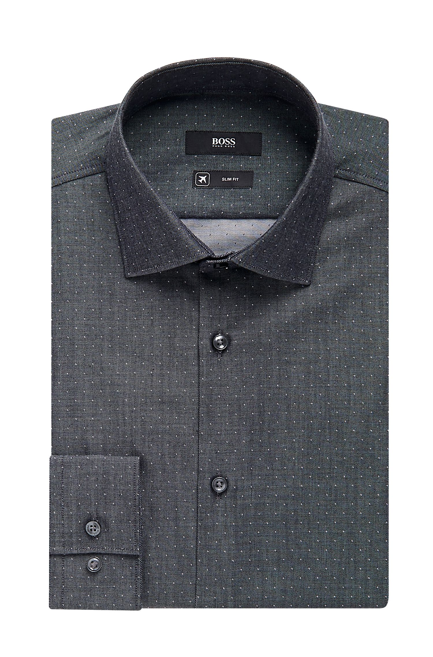 'Ismo' | Slim Fit, Traveler Microdot Cotton Dress Shirt