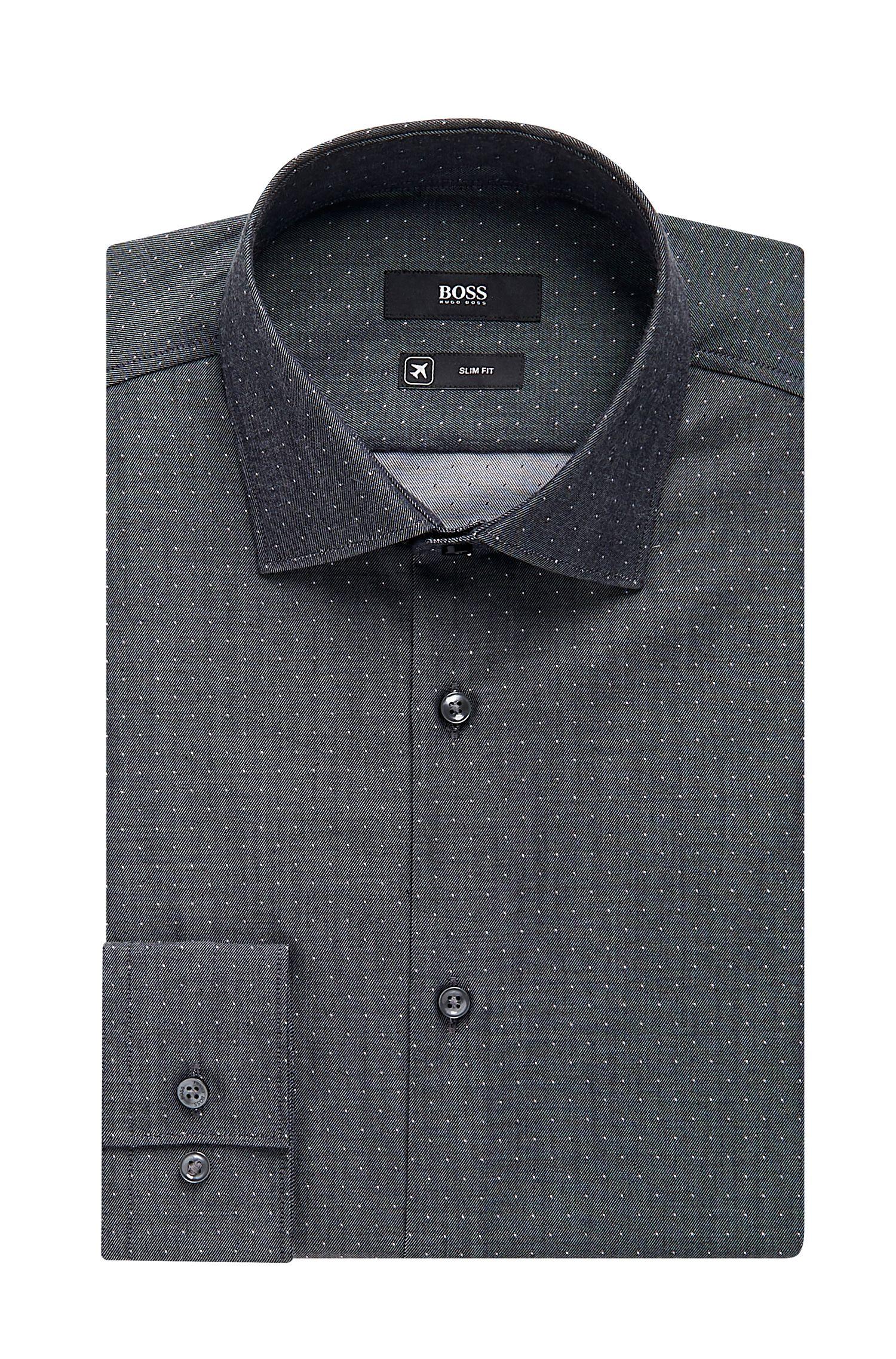 Traveler Micro dot Cotton Dress Shirt, Slim Fit | Ismo
