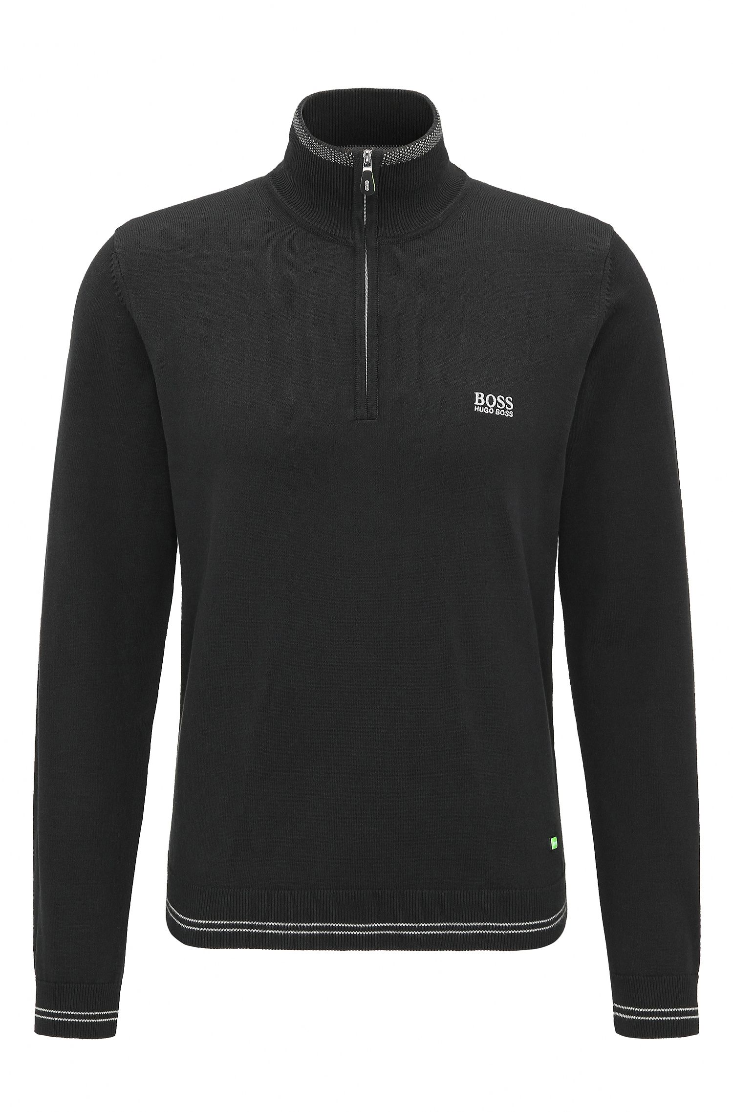 Cotton Blend Half-Zip Sweater | Zime W17
