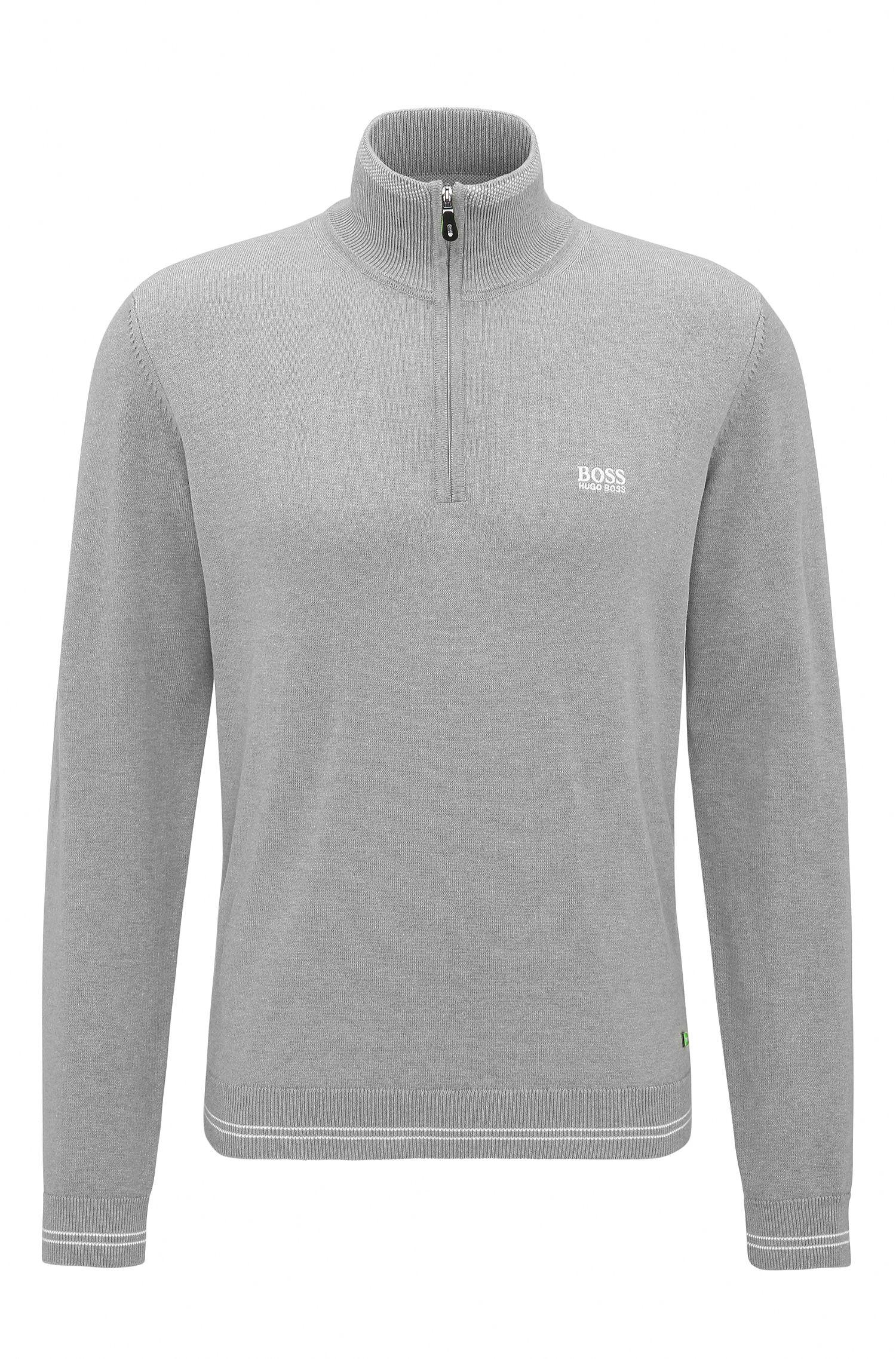 'Zime W17' | Cotton Blend Half-Zip Sweater