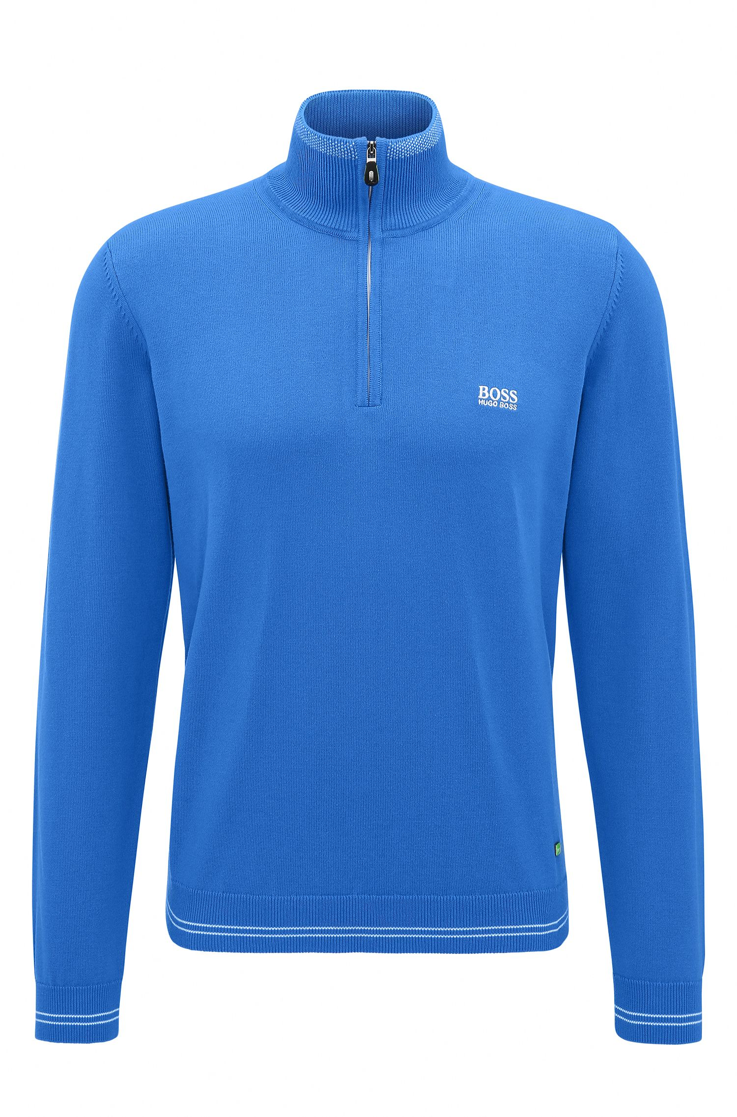 Cotton Blend Half-Zip Sweater | Zime W17