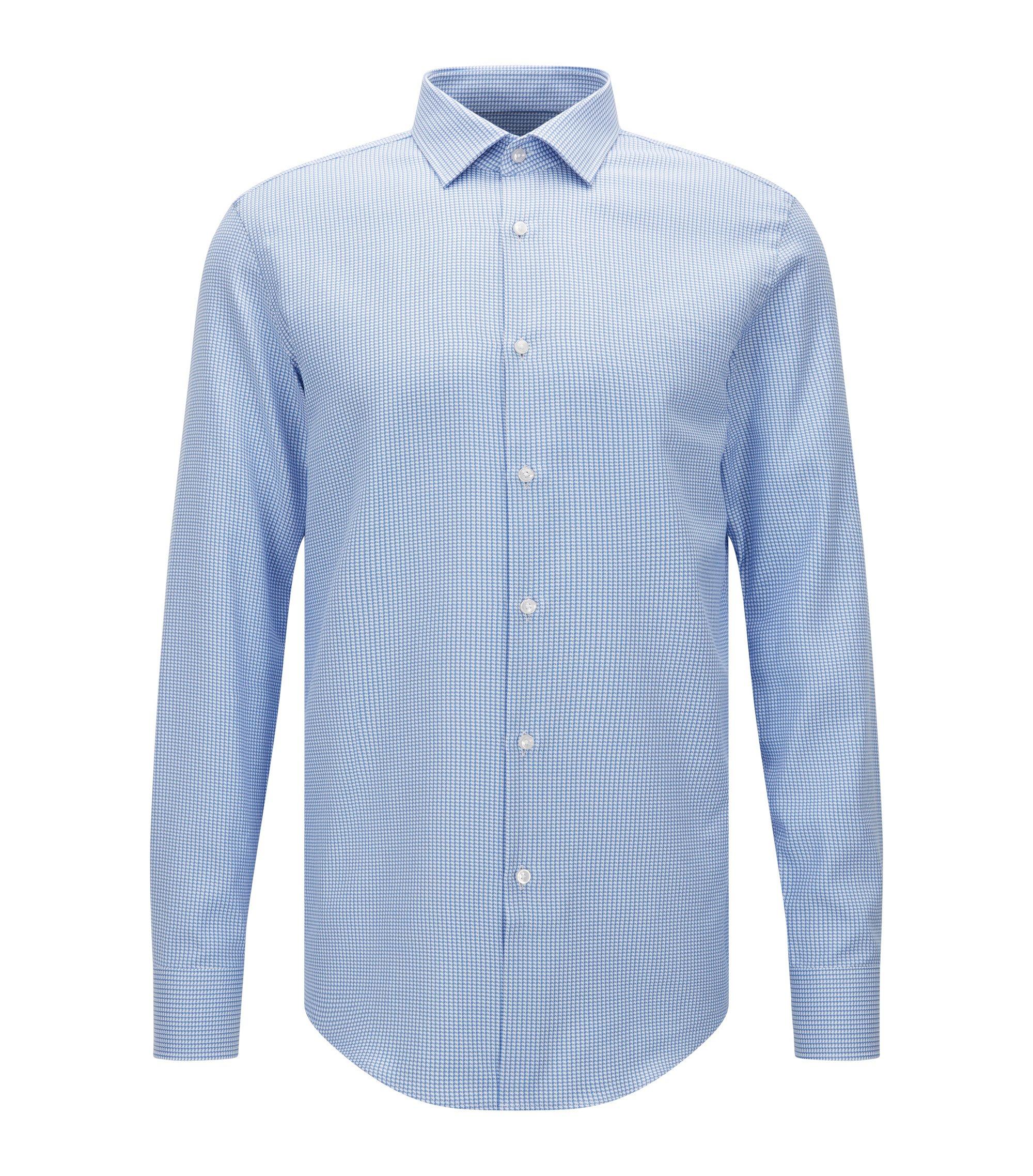 Italian Cotton Dress Shirt, Slim Fit   Jenno, Light Blue