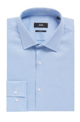 Italian Cotton Dress Shirt, Slim Fit | Jenno, Light Blue