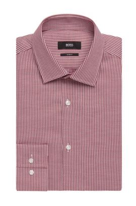 Italian Cotton Dress Shirt, Slim Fit | Jenno, Red