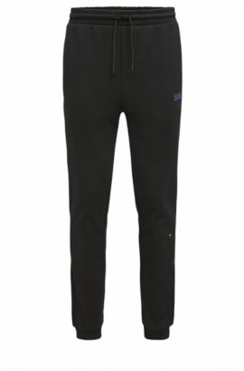 'Hivon' | Stretch Cotton Pants, Black