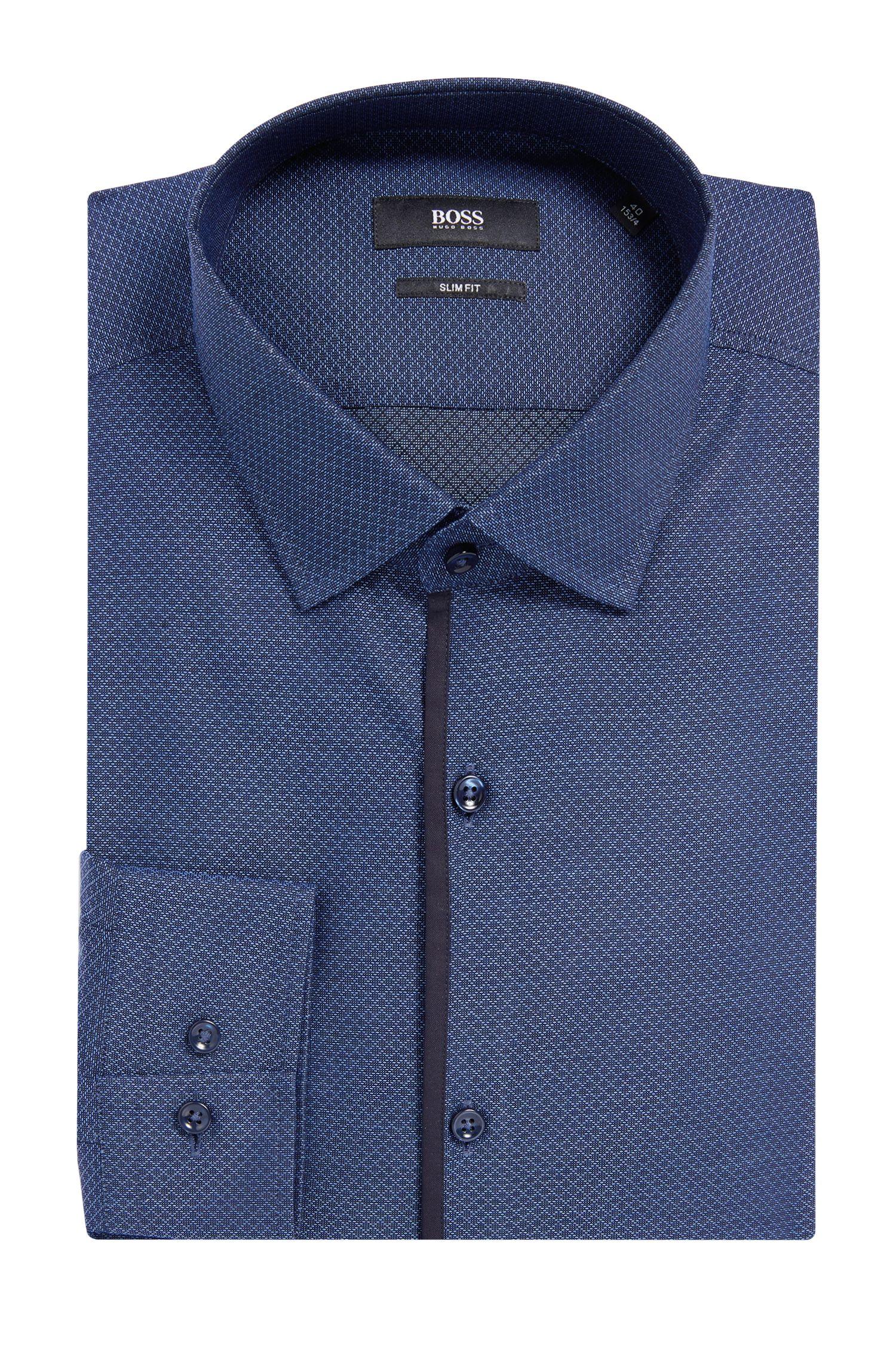 Diamond Pattern Cotton Dress Shirt, Slim Fit | Jeldrik