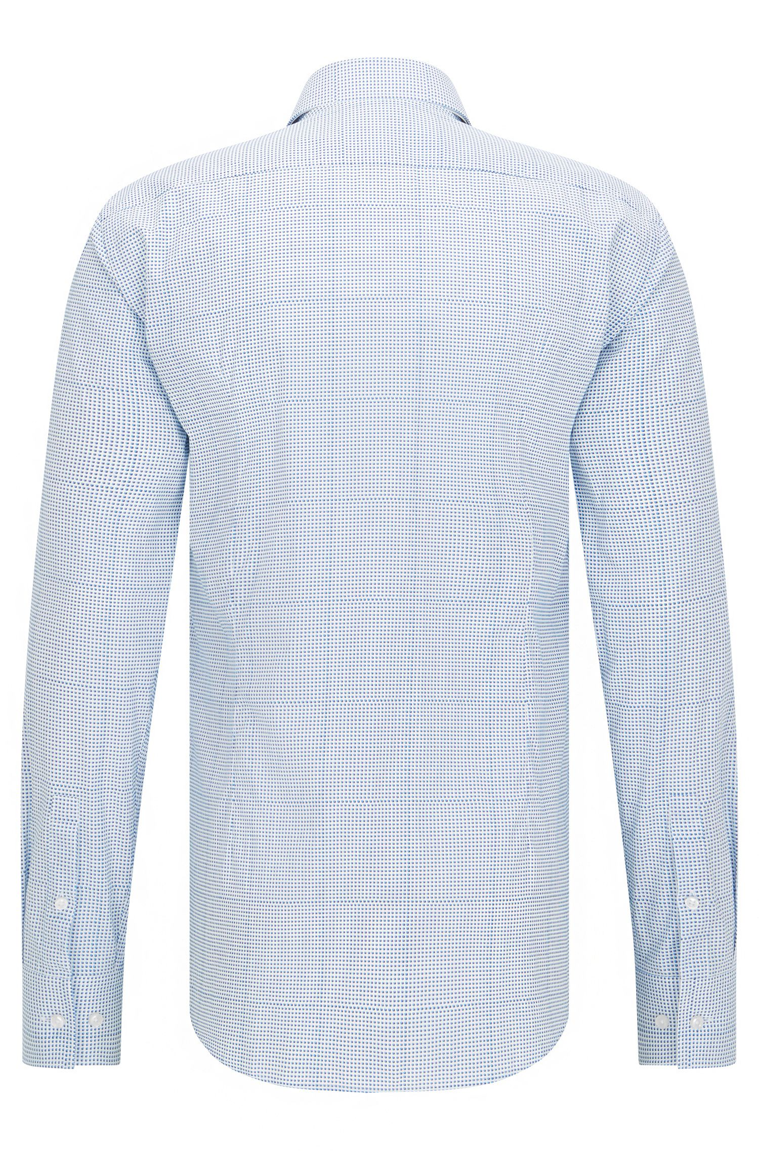 Micro Dot Cotton Dress Shirt, Slim Fit | Jason, Turquoise