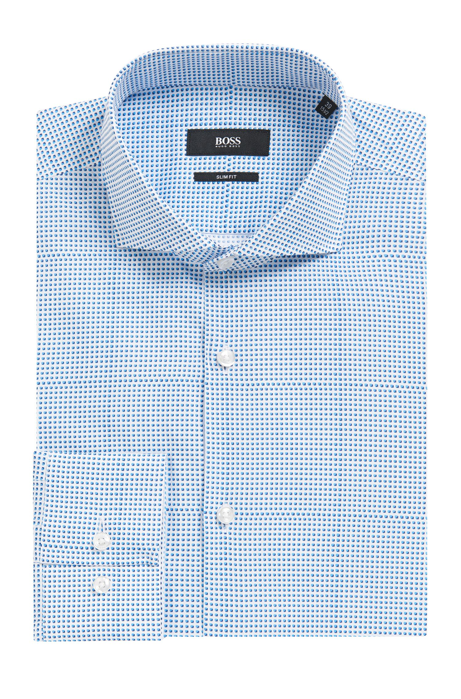 Microdot Cotton Dress Shirt, Slim Fit | Jason