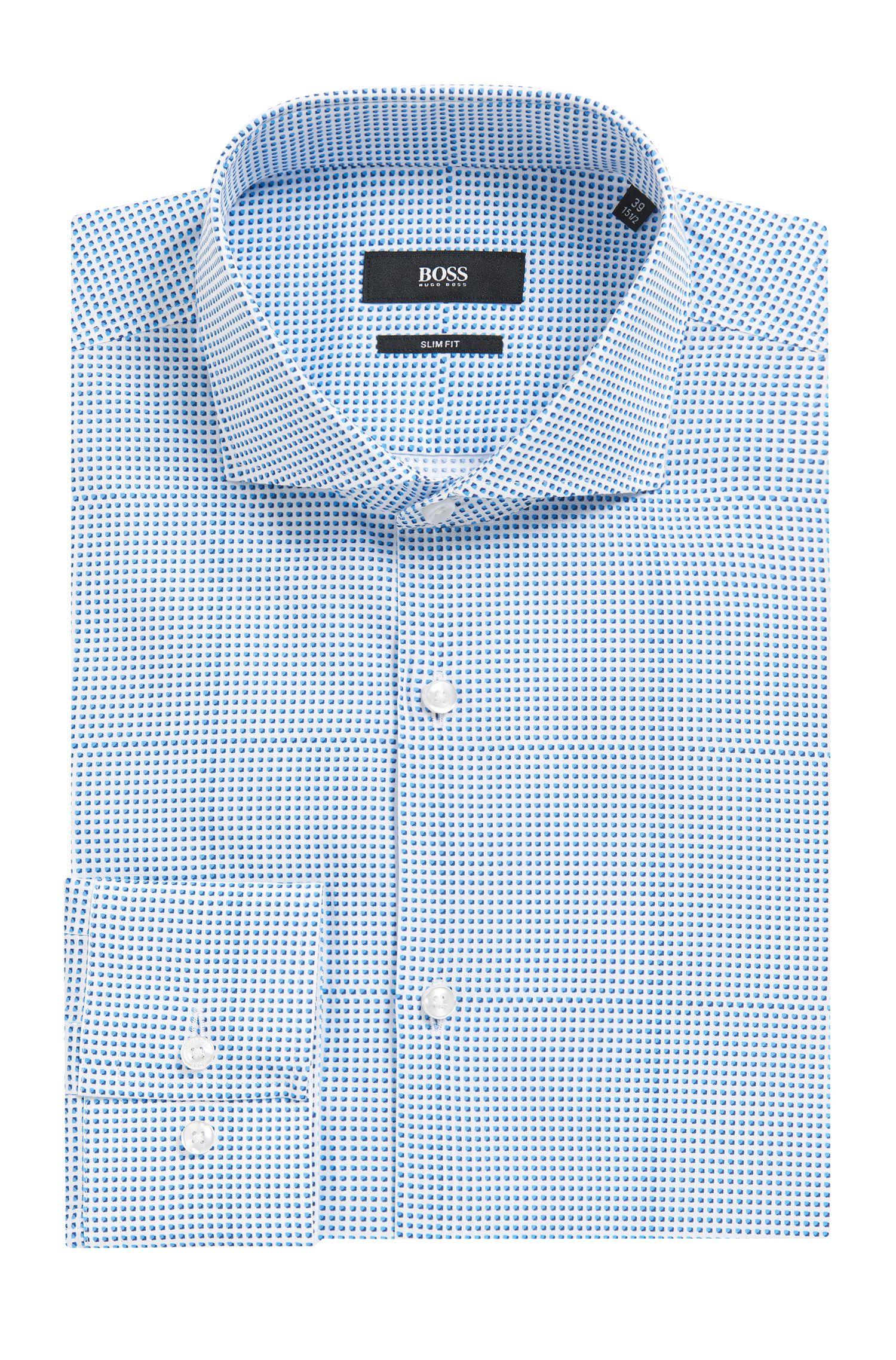 'Jason'   Slim Fit, Plaid Cotton Dress Shirt