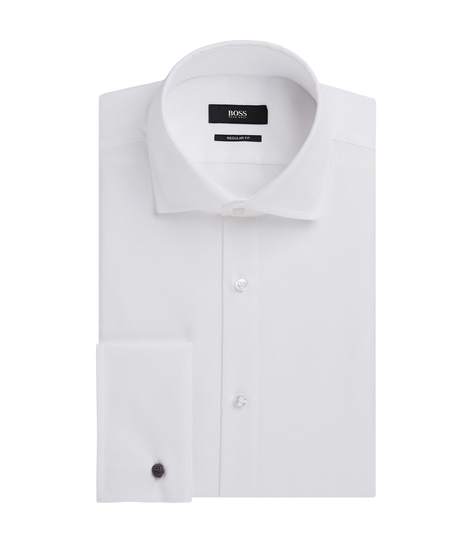 Cotton Dress Shirt, Regular Fit | Gardner, White