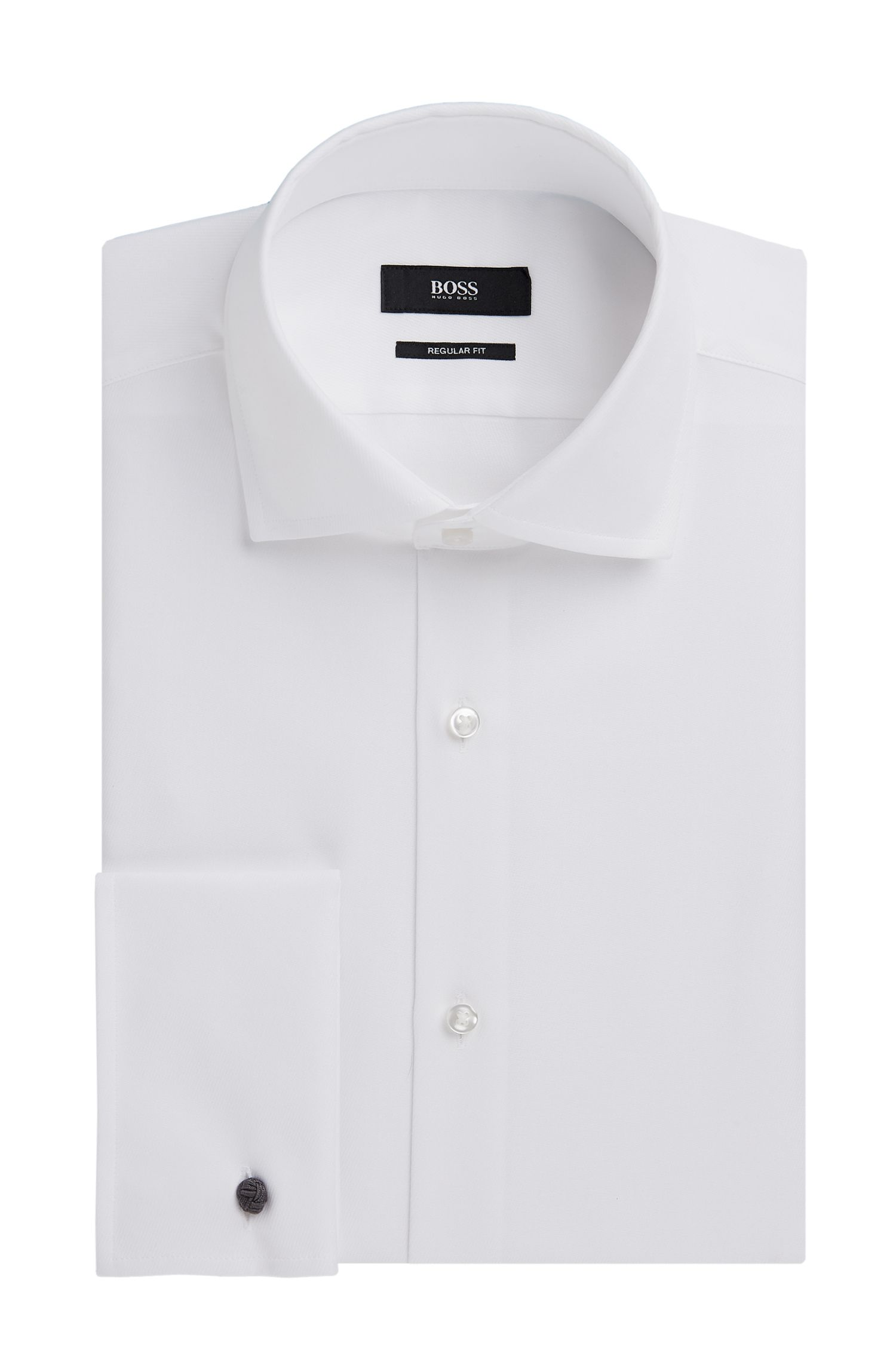 Cotton Dress Shirt, Regular Fit | Gardner, White