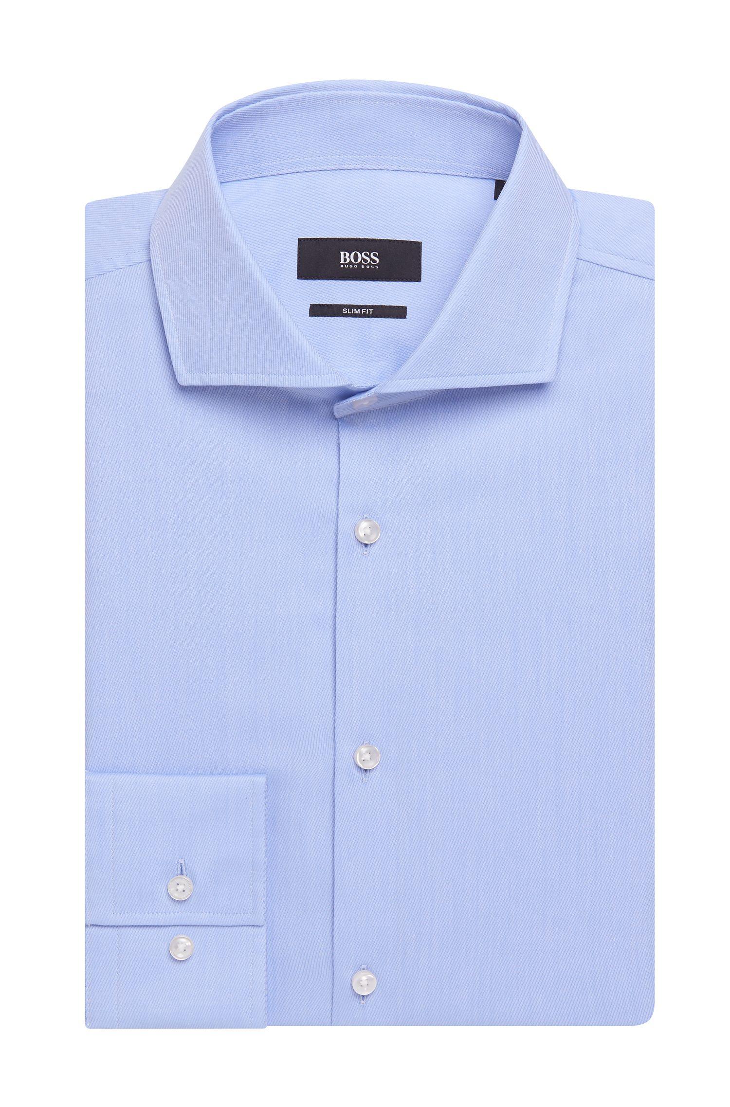 'Jason' | Slim Fit, Pindot Traveler Cotton Dress Shirt