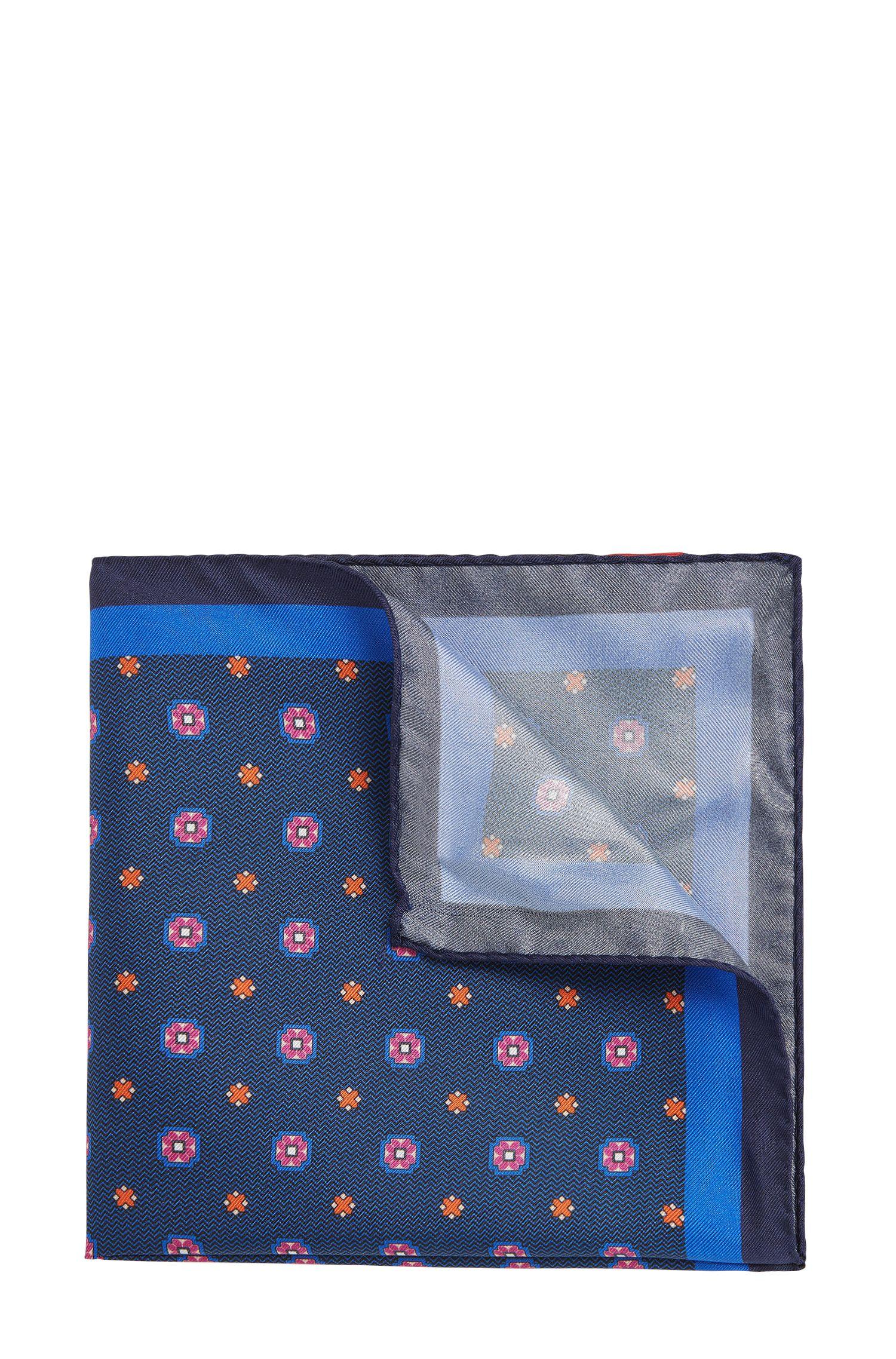 'Pocket sq. cm 33x33' | Patterned Italian Silk Pocket Square