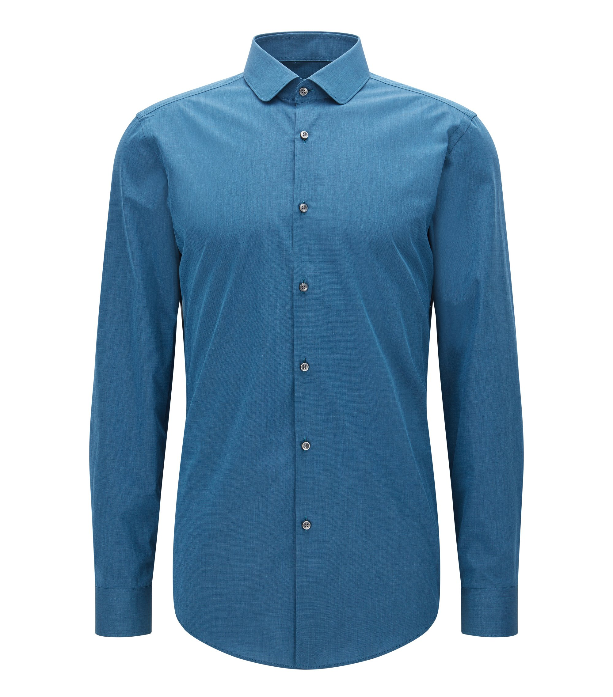 Cotton Poplin Dress Shirt, Slim Fit | Joshua, Turquoise