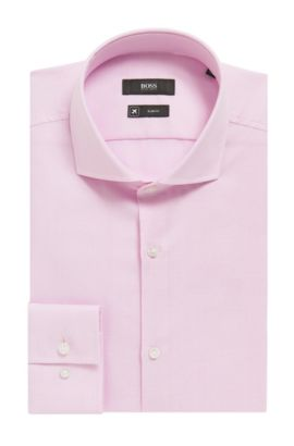 'Jason' | Slim Fit, Fresh Active Traveler Dress Shirt, light pink
