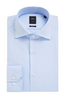 'T-Stenson' | Slim Fit, Italian Cotton Dress Shirt, Light Blue