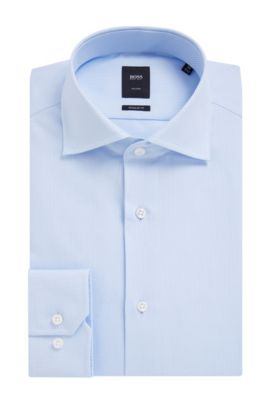 'T-Stenson' | Slim Fit, Italian Cotton Dress Shirt, Light Blue