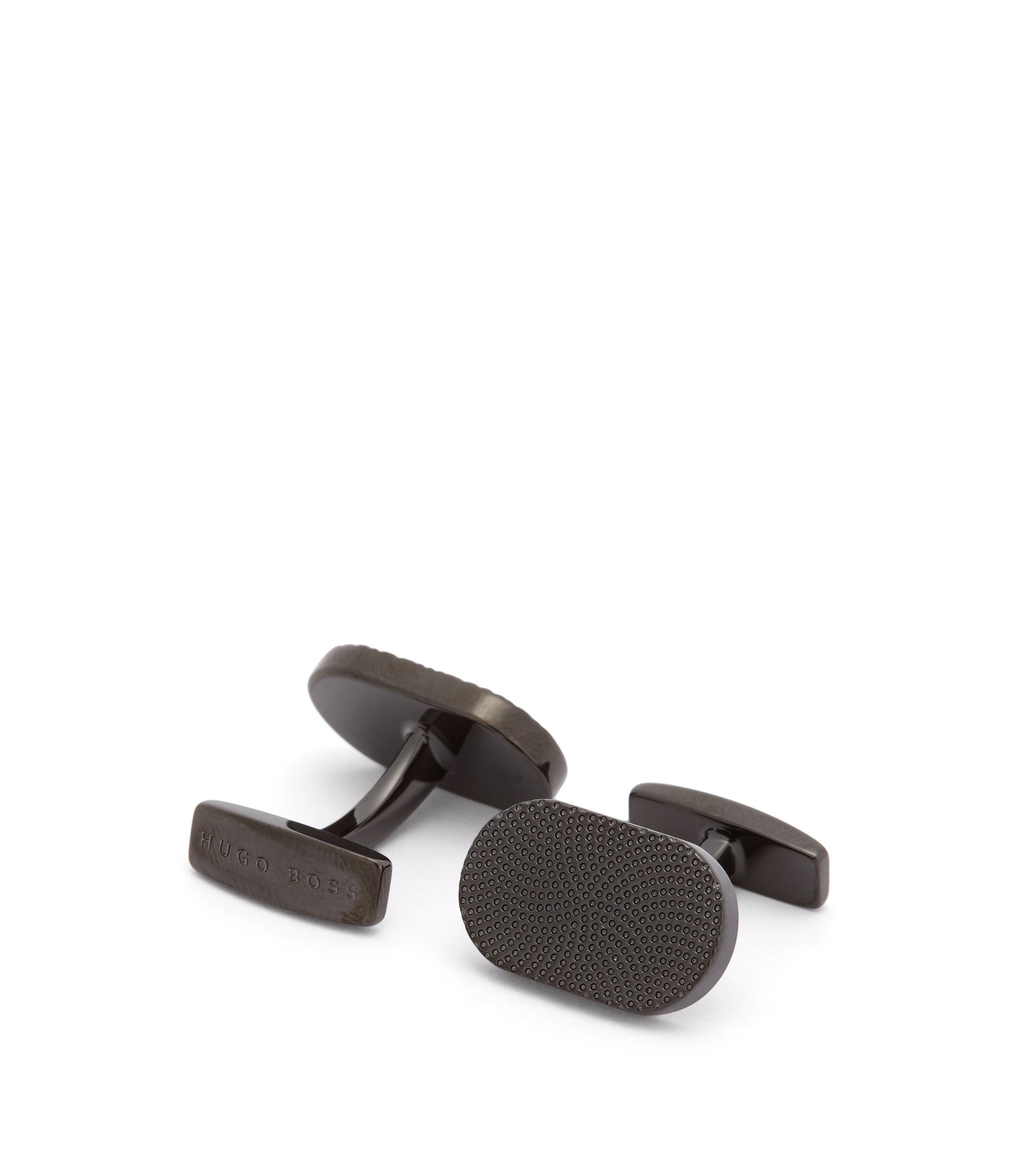 Concentric Brass Cufflinks | Joe, Black