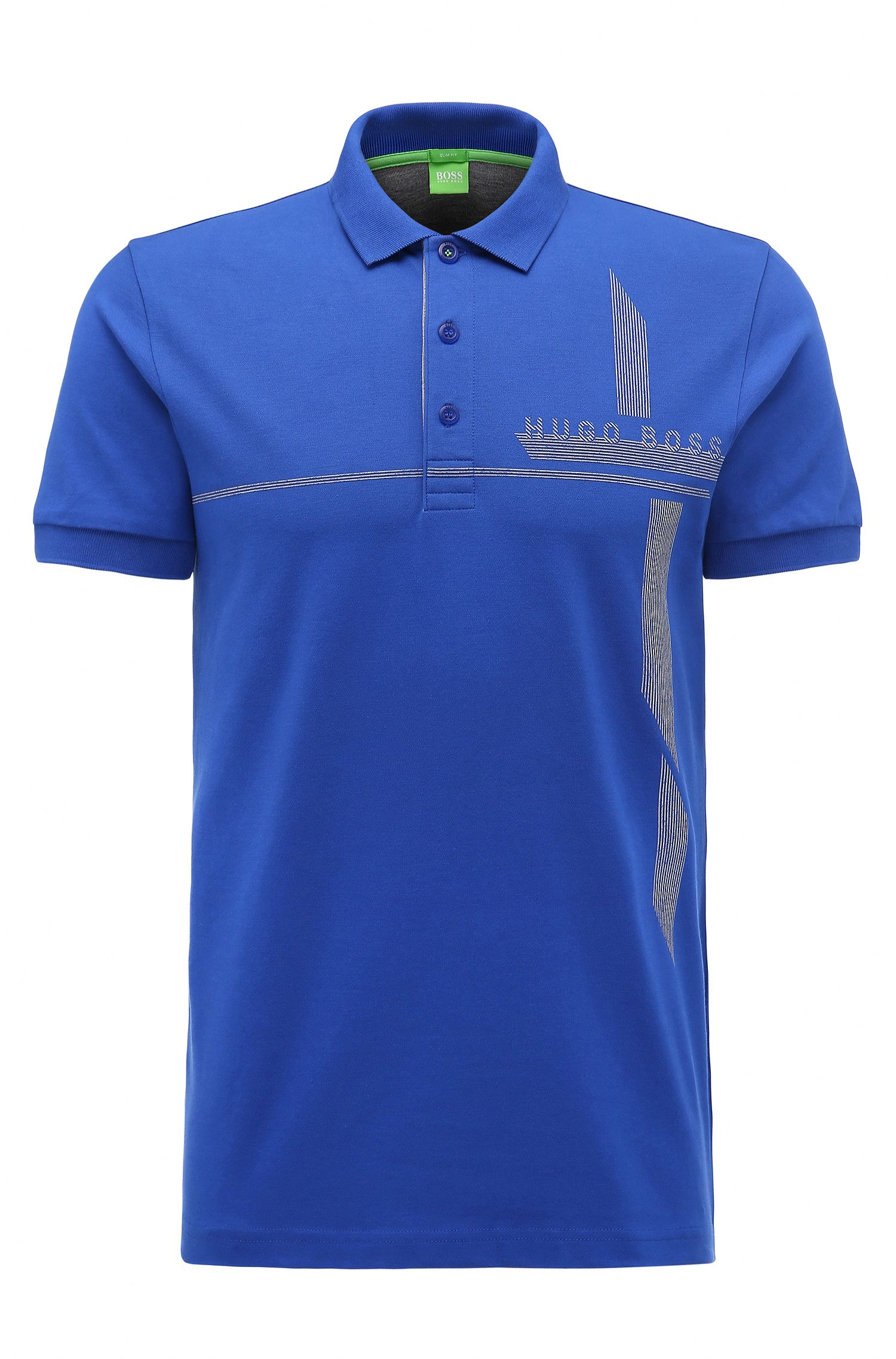Piqué Stretch Cotton Polo Shirt, Slim Fit | M-Paule