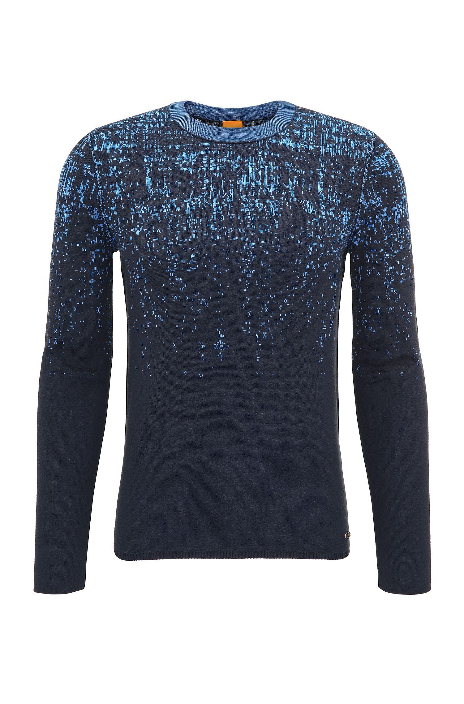 'Kapixo' | Ombre Long Sleeve Cotton Blend Sweater