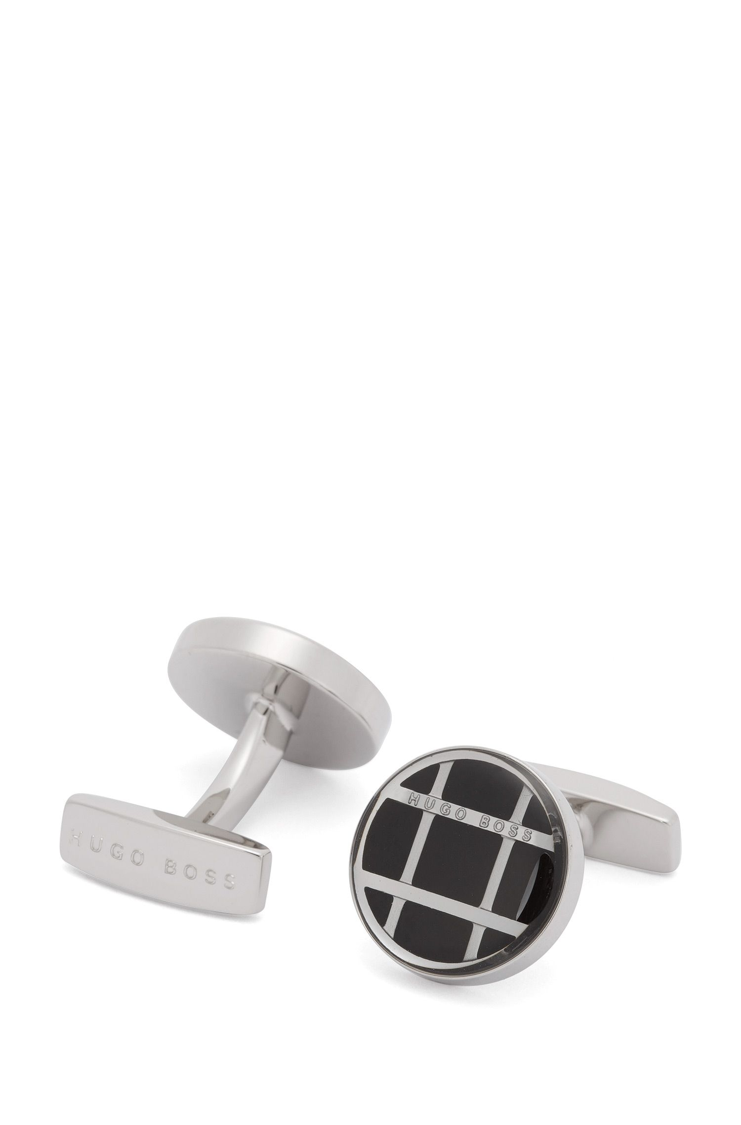 'Arthur' | Windowpane Check Stainless Steel Cufflinks