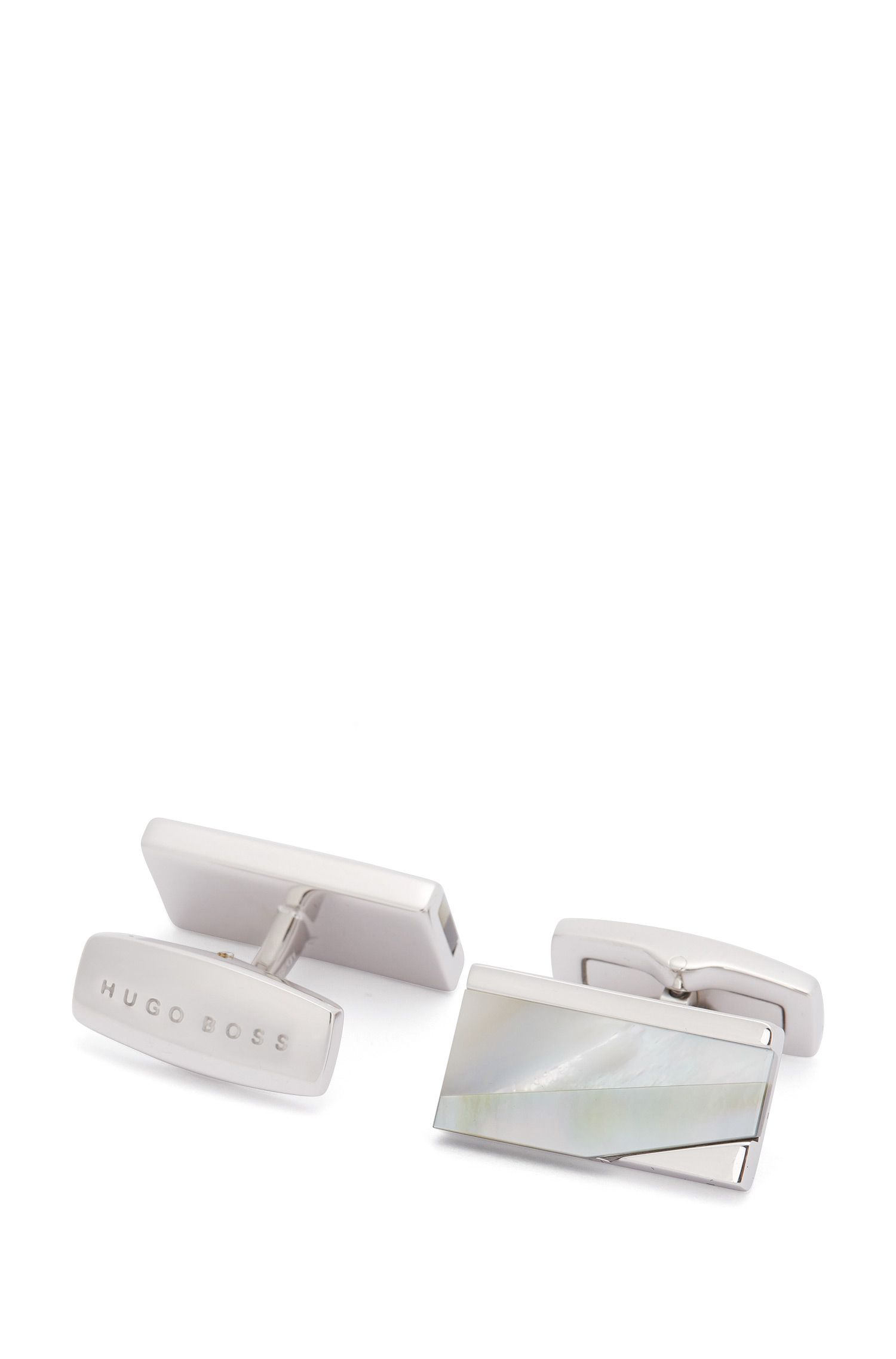 'T-Rupert' | Mother-of-Pearl Brass Cufflinks