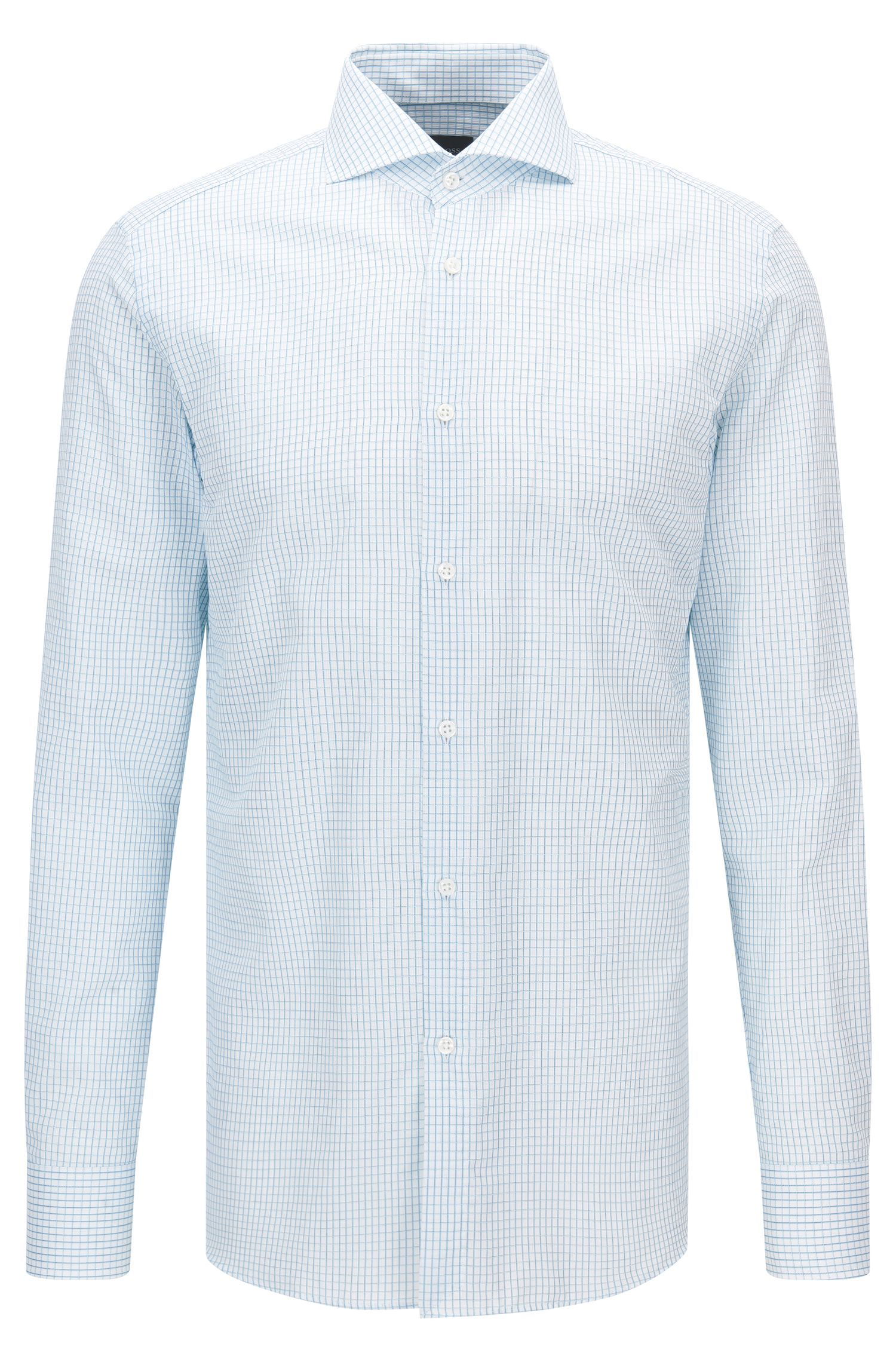 Check Italian Cotton Dress Shirt, Slim Fit | T-Christo