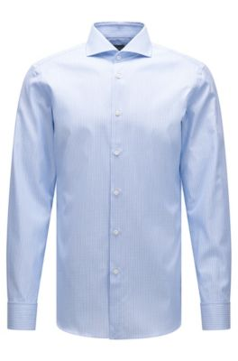 c9bc582b7 BOSS - 'T-Yacob' | Slim Fit, French Cuff Graph Check Cotton Dress Shirt